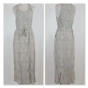 Lucky Brand Polka Dot Sleeveless Maxi Dress Sz S
